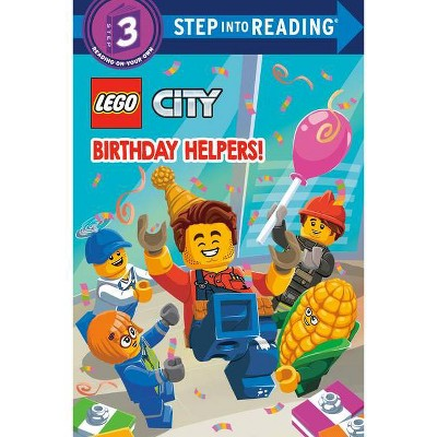 Birthday Helpers! (Lego City) - (Step Into Reading) by  Steve Foxe (Paperback)