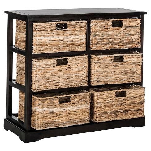 Keenan 6 Wicker Basket Storage Chest Safavieh