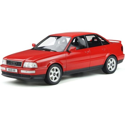 Audi 80 Quattro Competition Laser Red Limited Edition to 3,000 pieces Worldwide 1/18 Model Car by Otto Mobile