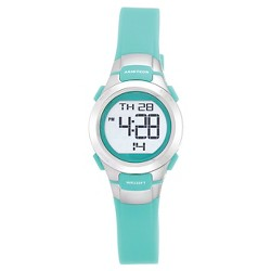 Women's Armitron Pro-Sport Teal Digital Watch - Silver