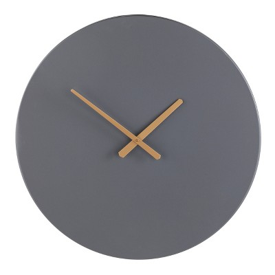 "25"" x 25"" Pisto Decorative Wall Clock Gray - Southern Enterprises"