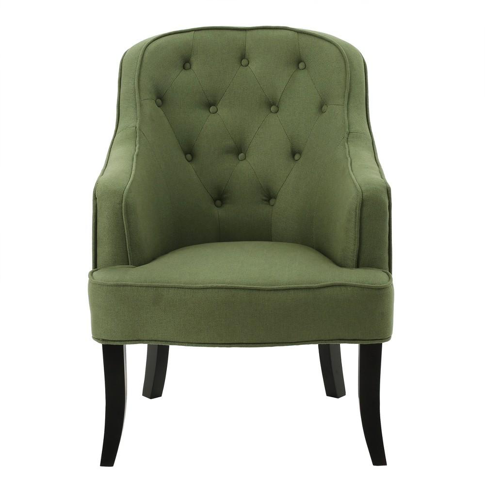 Sophia Upholstered Chair - Green - Christopher Knight Home
