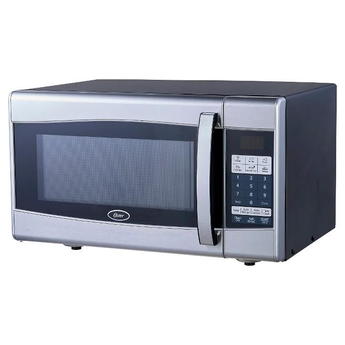 Oster 0.9 Cu. Ft. 900 Watt Digital Microwave Oven - Black & Stainless Steel OGXE901 - image 1 of 2