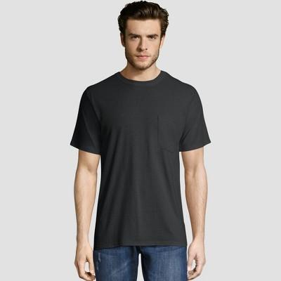 Hanes Men's Short Sleeve Workwear Crew Neck T-Shirt