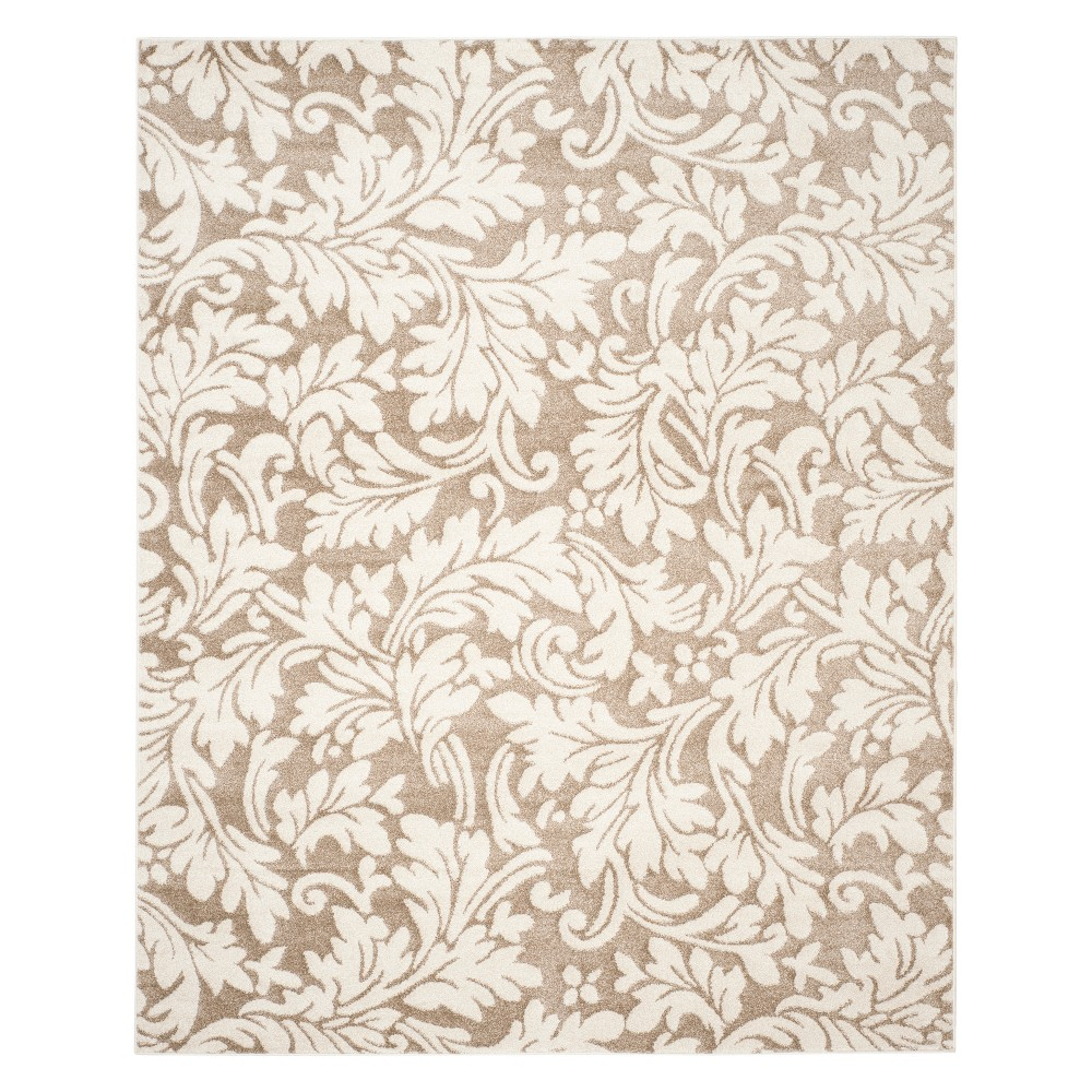 8' X 10' Rectangle Patio Rug - Wheat / Beige - Safavieh, Brown