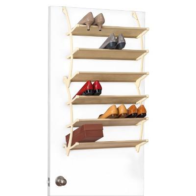 Lynk Vela Over Door Shoe Shelves   Shoe Rack Shelf   White : Target