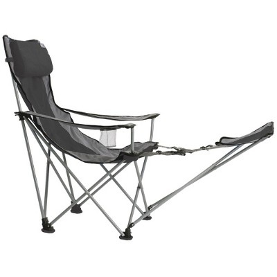Travel Chair with Carrying Case with Footrest - Gray/Black