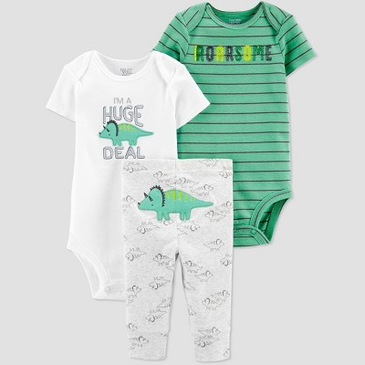 Baby Boys' Dino Bodysuit set - Just One You® made by carter's Green Newborn