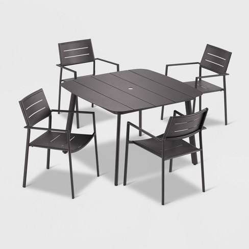 5pc Eiland Dining Table Set Carbon - Oxford Garden - image 1 of 1