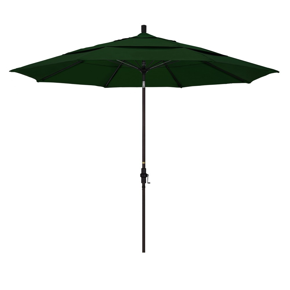 11' Aluminum Collar Tilt DV Patio Umbrella - Hunter Green