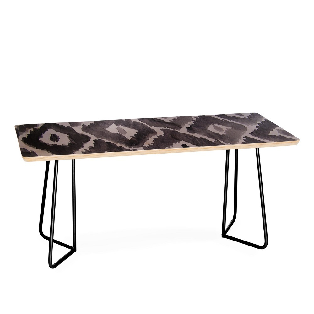 Natalie Baca Painterly Ikat in Black Coffee Table - Deny Designs
