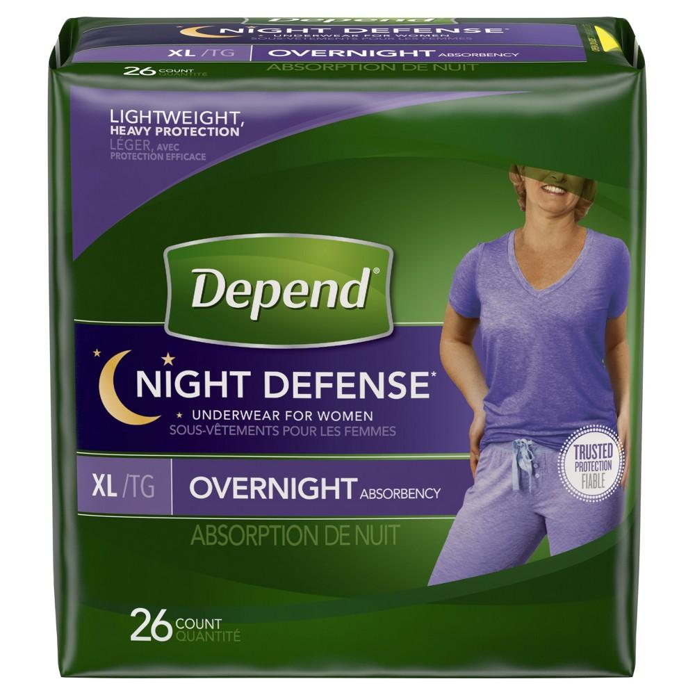 Depend Night Defense Incontinence Underwear - XL - 26ct, White