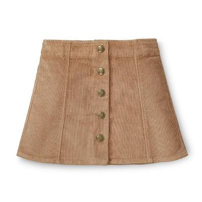 Hope & Henry Girls' A-Line Snap Front Skirt, Infant
