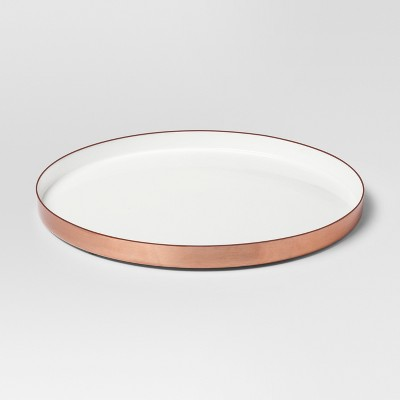 Enamel Tray Large - White/Copper - Project 62™
