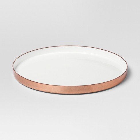 Enamel Tray Large - White/Copper - Project 62™ - image 1 of 2