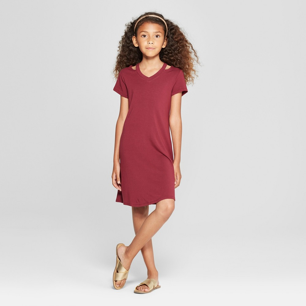 Girls' Cut Out Dress - art class Red M