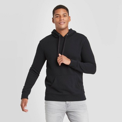 Men's Regular Fit Fleece Pullover Hoodie - Goodfellow & Co™ Black
