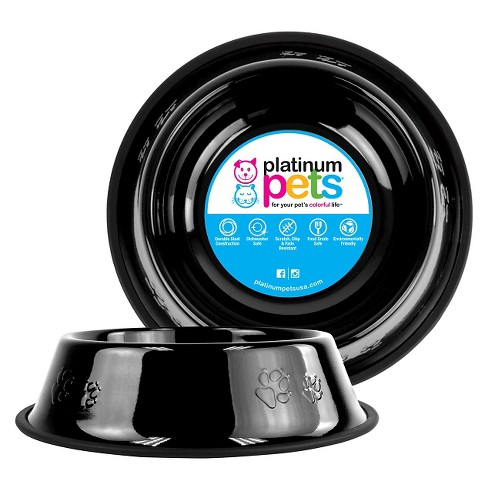 Platinum Pets Embossed Non-Tip Cat/Dog Bowl - Midnight Black - 10 Cup - image 1 of 2