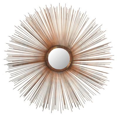 Sunburst Bedford Decorative Wall Mirror Burnt Copper -Safavieh®