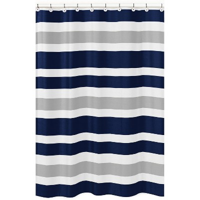 Striped Shower Curtain Navy/Gray - Sweet Jojo Designs