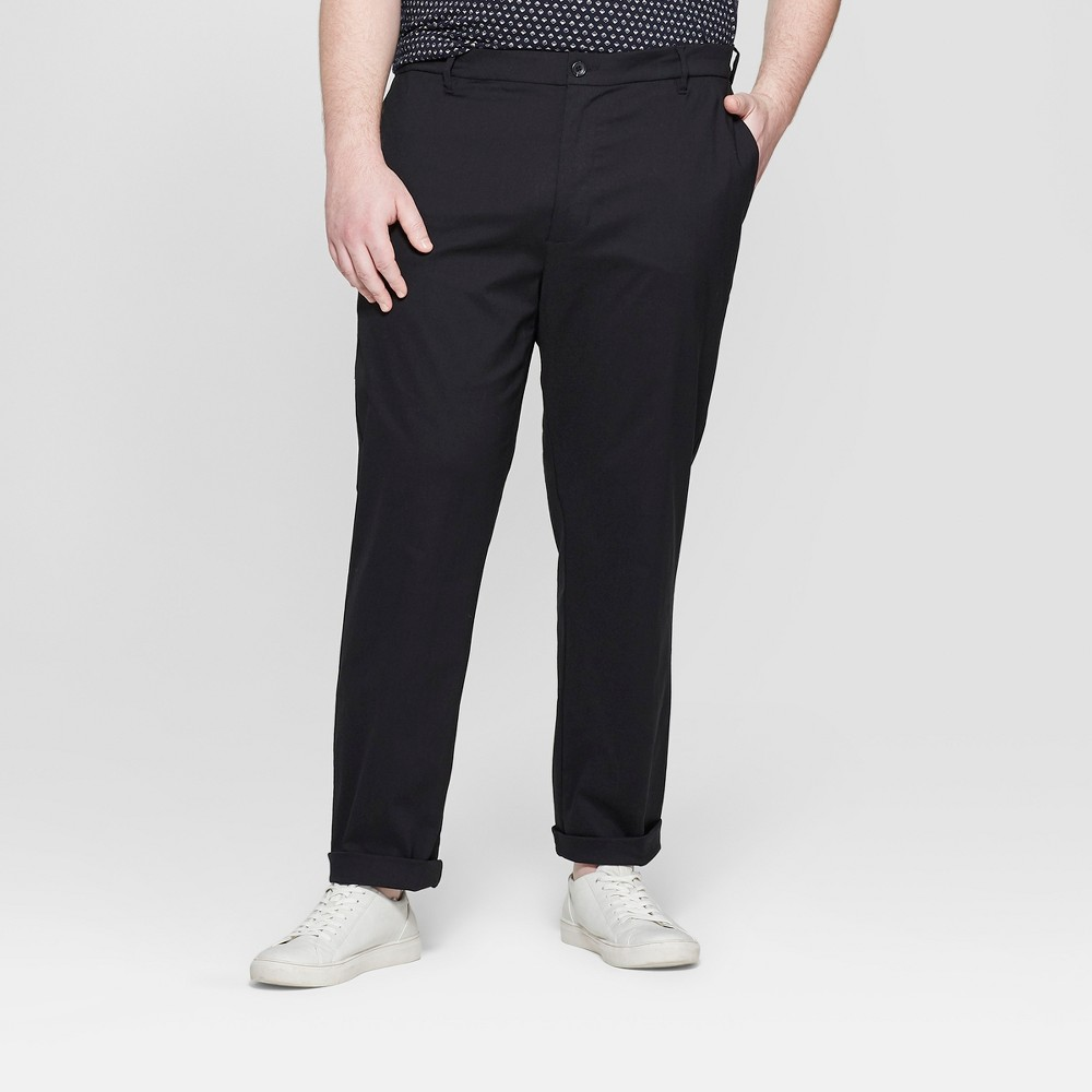 Men's Big & Tall Chino Pants - Goodfellow & Co Black 46x30