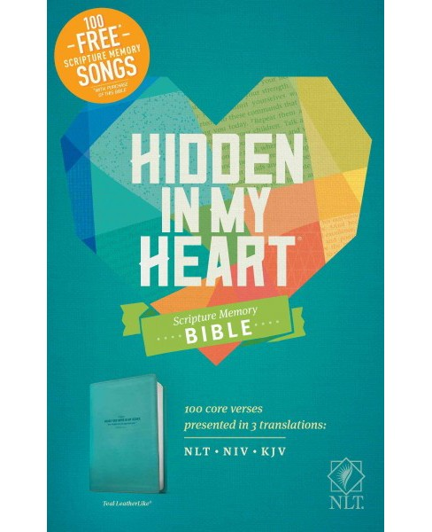 Holy Bible : Hidden in My Heart Scripture Memory Bible Nlt (Paperback) - image 1 of 1