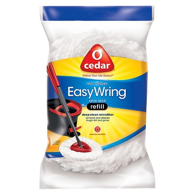 O-Cedar Easy Wring Spin Mop Refill- White