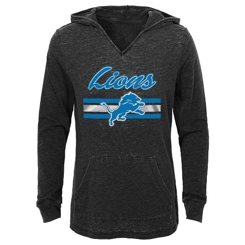 super cute f704a f7280 Detroit Lions Girls' Game Time Gray Burnout Hoodie XS