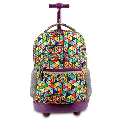 "J World 18"" Sunrise Rolling Backpack"