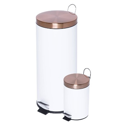 Honey-Can-Do 3L-30L Step Trash Can Combo Rose gold