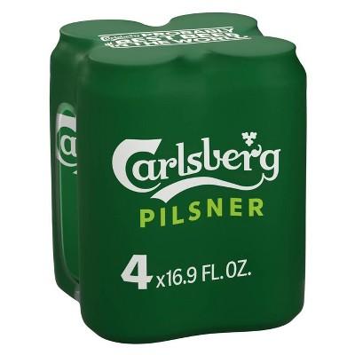 Carlsberg Danish Pilsner Beer - 4pk/16.9 fl oz Cans