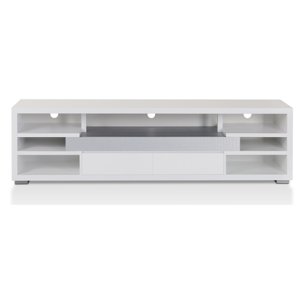 Lavante Contemporary TV Stand Glossy White - Homes: Inside + Out, White Crystal