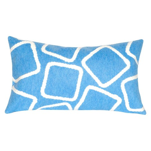 Blue Outdoor Throw Pillow - Liora Manne - image 1 of 1