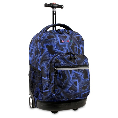 "J World Sunrise 18"" Rolling Backpack - Disco - image 1 of 4"