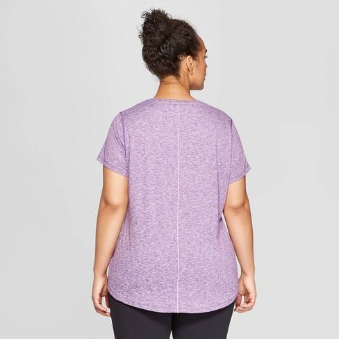 29e8ad98b6177 Women s Plus Size Short Sleeve Soft T-Shirt - C9 Champion® Purple Heather  4X   Target
