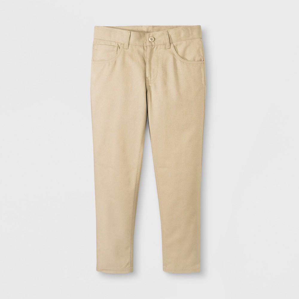 French Toast Boys' Slim Pants - Khaki (Green) 16