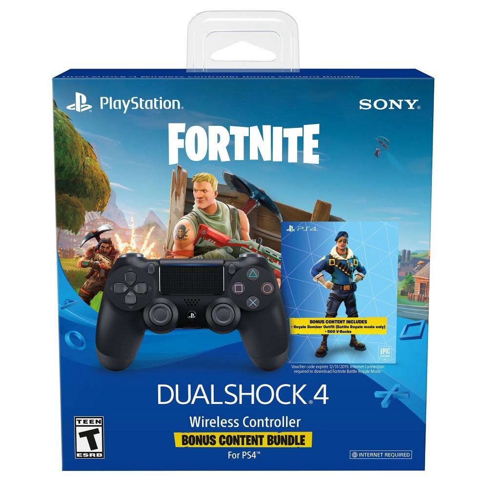 DualShock 4 Fortnite Bonus Bundle Wireless Controller PlayStation 4 - Black