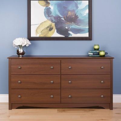 Monterey 6 Drawer Dresser Cherry - Prepac