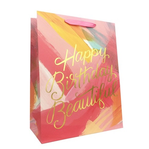 Large Happy Birthday Beautiful Cub Gift Bag