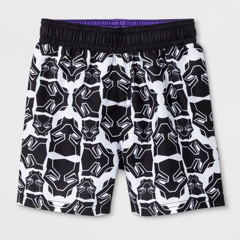 957a3c0872 Toddler Boys' Marvel Black Panther Swim Trunks - White : Target