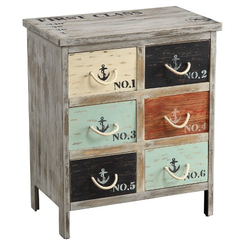 Storage Cabinet Coastal Colored Drawer - Christopher Knight Home - image 1 of 2