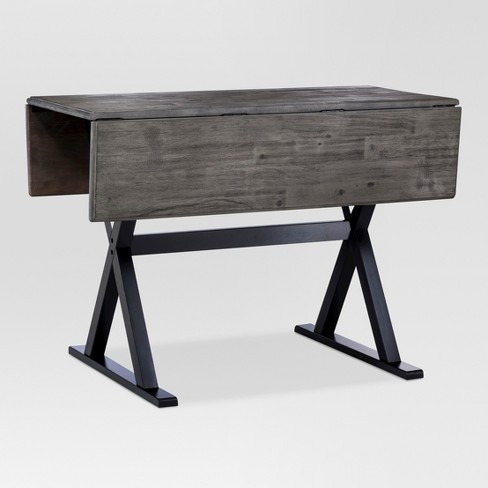 40 Square Drop Leaf Rustic Dining Table Gray Black Threshold Target