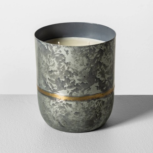 25oz Galvanized Container Candle Fireside - Hearth & Hand™ with Magnolia - image 1 of 3