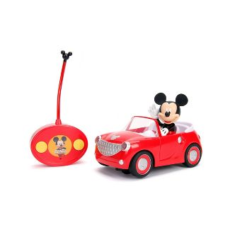 "Jada Toys Disney Junior RC Mickey Mouse Club House Roadster Remote Control Vehicle 7"" Glossy Red"