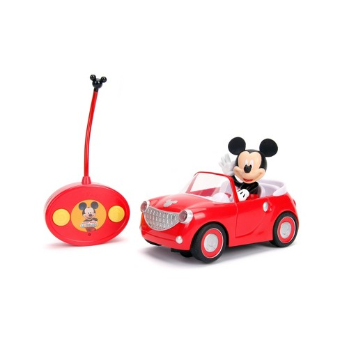 "Jada Toys Disney Junior RC Mickey Mouse Club House Roadster Remote Control Vehicle 7"" Glossy Red - image 1 of 4"