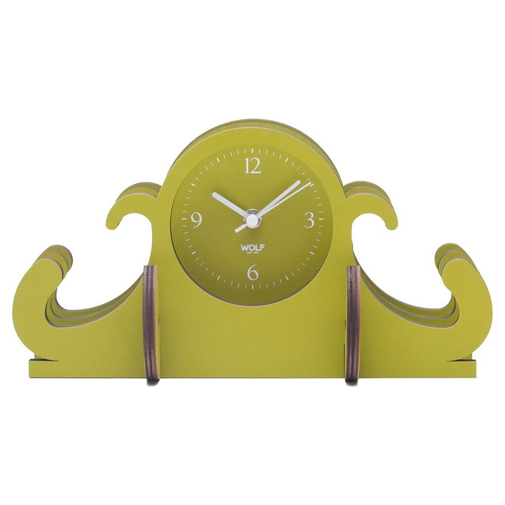 Image of Jigsaw Mantel Clock Green - WOLF