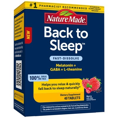 Nature Made Back to Sleep Supplements - 40ct