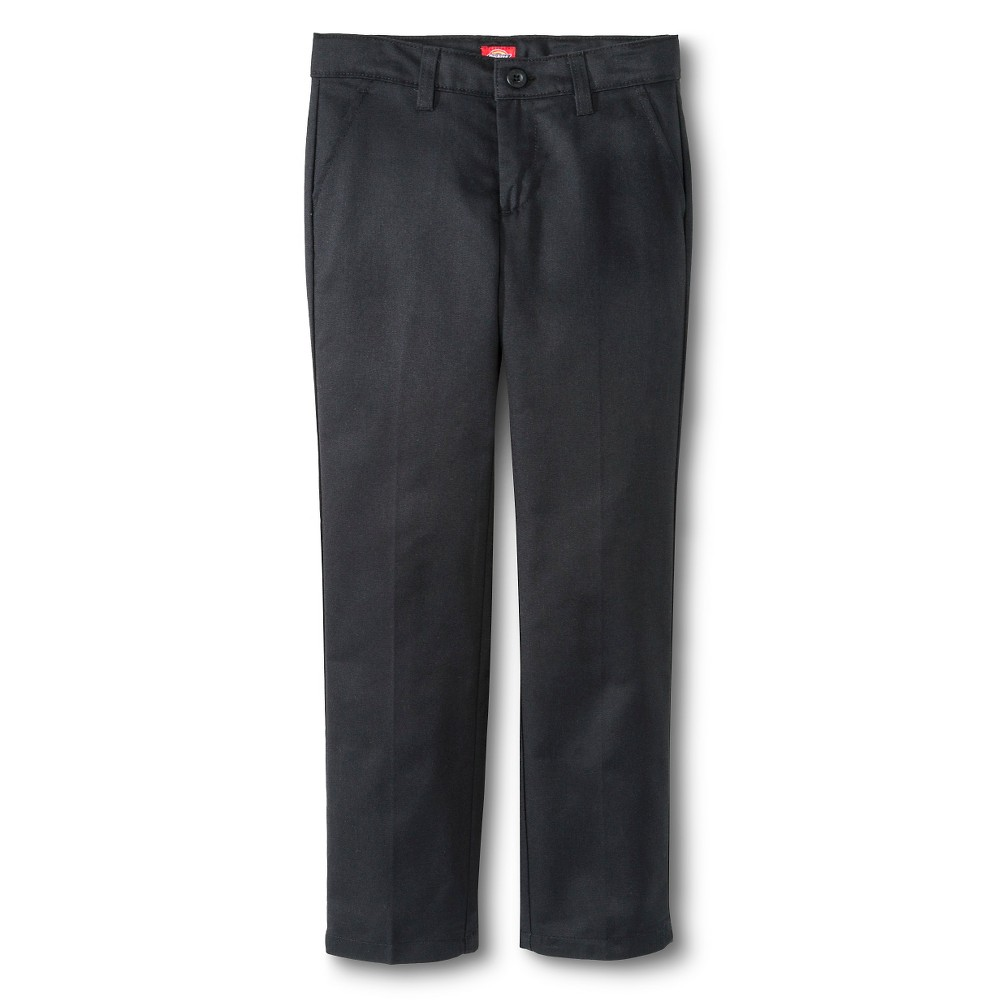 Best Price Dickies Girls Slim Fit Flat Front Pants Black 10