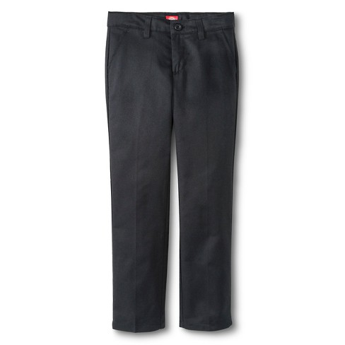 Dickies® Little Girls' Slim Fit Flat Front Pants - Dark Navy - image 1 of 3