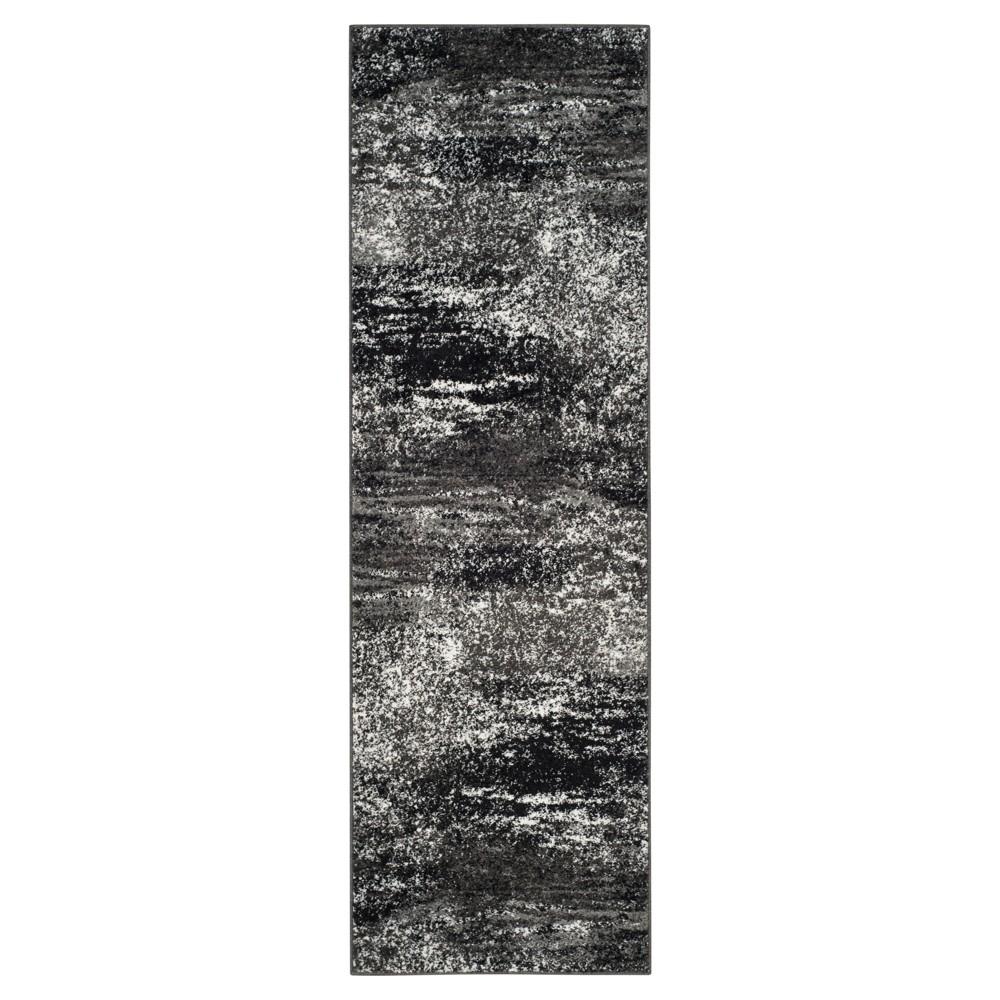 Nykko Runner - Silver/Black (2'6x8') - Safavieh
